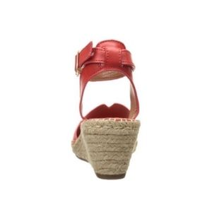 021fb2f88248e Clarks Shoes | Artisan Petrina Red Espadrilles Sandals 7 | Poshmark
